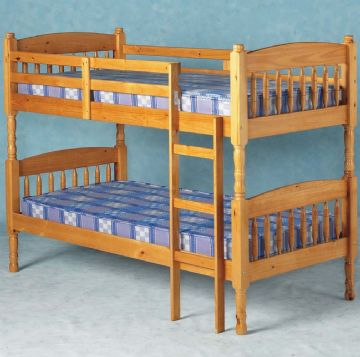 Albany Solid Pine Bunk Bed (Splits into 2 Single Bedframes)